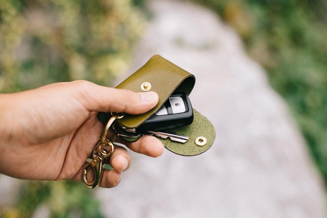 スマートキーと鍵が一緒に収納可能
