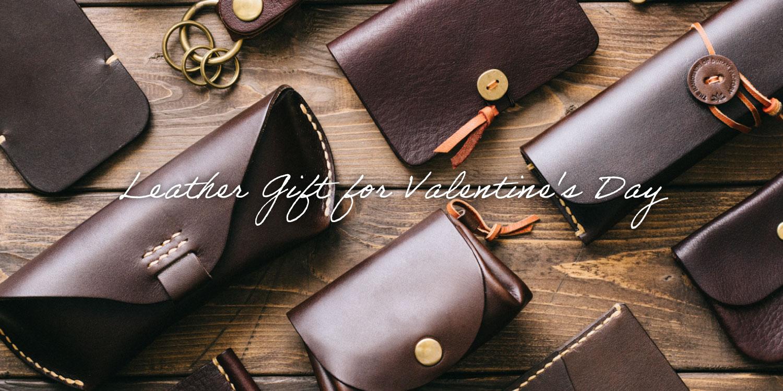 バレンタインデーに。チョコレート色の革小物。