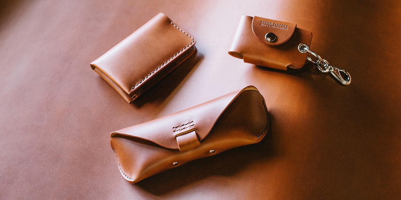 トスカーナ産の美しい革で定番商品を作りました