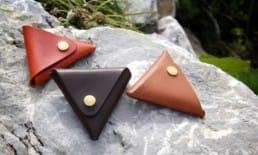 三角形の小銭入れ3種