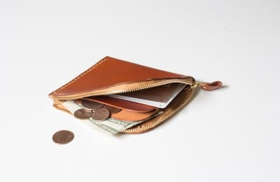 L字ファスナーの革財布