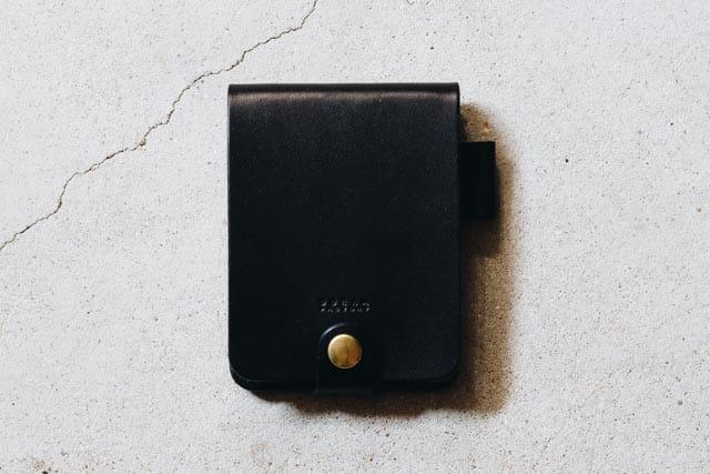 黒い革のロディアカバー