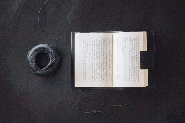 黒のブックカバーとペンケース、始めました。